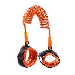 Wholesale Harness Connector Australia - 150cm 200cm 250cm Children Kids Baby Anti Lost Wrist Link Safety Harness Strap Rope Rotaing Fresh Connector Rope With Metal Cuff HH-S02
