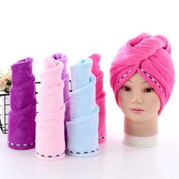 $enCountryForm.capitalKeyWord NZ - Dry Hair Towel Microfiber Absorbent Dry Hair Caps Drying Lace Turban Wrap Hat Shower Spa Bathing Caps 5 Colors YW3325
