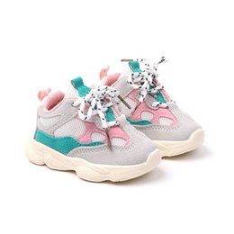koreans fashion sneakers NZ - Autumn New baby soft bottom sneakers Korean version of fashion front strap daddy shoes 0-2 year old baby toddler shoes