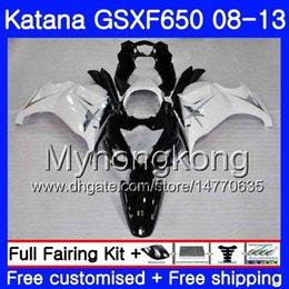 White Katana Australia - Bodys For SUZUKI KATANA GSX650F 2008 2009 2010 2011 2012 2013 303HM.47 GSX 650F GSXF650 GSXF 650 Black white new 08 09 10 11 12 13 Fairing