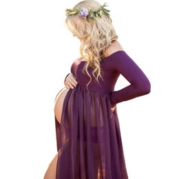 $enCountryForm.capitalKeyWord NZ - Pregnancy Dress Photography Props Photo Shoot Maxi Gown Dresses Maternity Clothes For Pregnant Women Premama Vestido Q190521