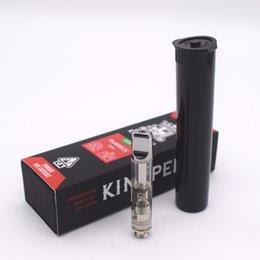 Kingpen Vape-Patronen Neue Geschenkverpackung 0,5 ml 1,0 ml Ceramic Coil 510 Gewinde-Vape-Tank für dickes Öl mit 12 Geschmacksaufklebern