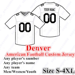 CUSTOM Denver American Football Jerseys 5 Flacco Customized Sewn On Any  Name Any Number Size S- 4XL Mix Order Men Women Youth 05384b78c