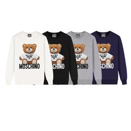 Wholesale Luxury Men Women Hoodies Women Sweatshirt Mens Casual Pullover Autumn Long Sleeve Mens Clothing Bear Printed Sweater B102474K on Sale