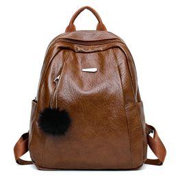 $enCountryForm.capitalKeyWord Australia - 2018 new Korean version of the backpack trend retro PU leather casual fashion travel large capacity backpack