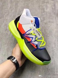ad1115dfb784 2019 Release Authentic ROKIT X Kyrie 5 All-Star Multi Color Basketball  Shoes Men CJ7853-900 Yellow Black Orange Blue Sneakers Sports 40-46