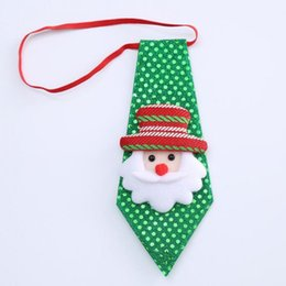 $enCountryForm.capitalKeyWord Australia - Christmas Sequins Tie Cute Snowman Santa Claus Elk Bear Christmas Tree Decorations Xmas Tie Adult Children's Day Gift Supplies