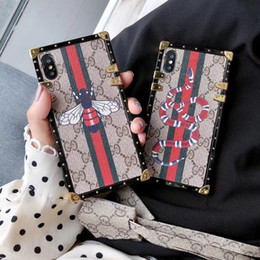 $enCountryForm.capitalKeyWord Australia - Hot sales phone cases Luxury Fashion Models PU Phone Back cover Designer for iPhone XS max case For samsung phone case free shipping