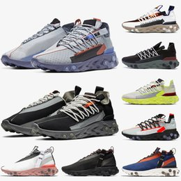 light platinum Australia - Hot Fashion Breathable React Shoes React Wr Ispa Running Shoes For Men Women Light Crimson Platinum Volt Ghost Aqua Trainers Reacts Sneakers