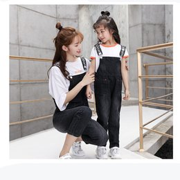 $enCountryForm.capitalKeyWord Australia - Fashion Parent-child Clothing Summer Suit New Style 2019 Women's Dress Girl Jeans Strap Skirt Cowgirl Belt Summer MX190712