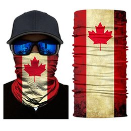 cycle bandana face mask Australia - 3D National Flag Cycling Headwear Neck Gaiter Headband Canada Face Mask Magic Scarf Tube Bicycle Seamless Bandana Ski Balaclava