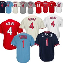 Discount cardinals jerseys - new 2019 St. Louis Cardinals Jerseys 4 Yadier  Molina Jerseys 25 4f6a17af1