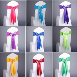 $enCountryForm.capitalKeyWord Australia - Wedding Party Decoration Supplies Elastic Spandex Satin Bow Tie Chair Back Cover Band Long Swallow Tail Shape Ribbon Sash