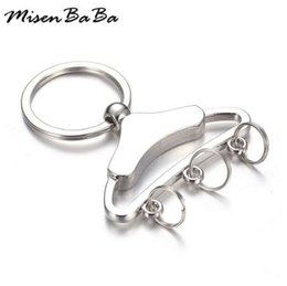 Discount boys stand - Fashion Clothes Hanger Keychains Metal Key Chain Keyring Key Pendant Clothes Stand Keyring For Woman Men Key Chains Gift