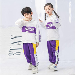 $enCountryForm.capitalKeyWord NZ - Children Hip Hop Clothing Hoodie Jogger pants for Girls Boys Sport wear Dance Costumes Wear Ballroom Dancing Clothes Outfits