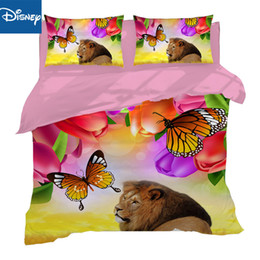 hot pink king size bedding Australia - Lion bed linens 3d print quilt cover us twin bedding sets helloween 3 4pc bedspread US king full sizes boys girls home decor hot