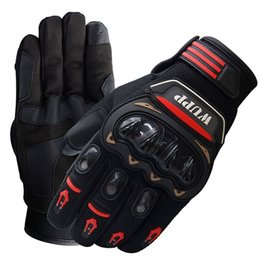 Wholesale 2019 Brand New Fashion Cycling Bike Bicycle Motorcycle Patchwork Full Finger Gloves Winter Touchscreen Gloves