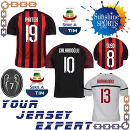 AC Milan soccer Jersey 18 19 PIATEK BONAVENTURA CALHANOGLU KESSIE Home away  third ROMAGNOLI SUSO CALDARA football shiirts Jerseys RODRIGUEZ a1f98c334