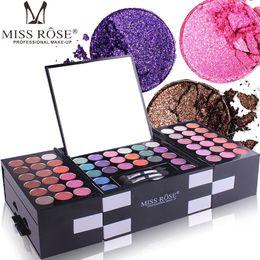Make Up Kits Glitter Eye Shadow Australia - Miss Rose 144 Color Makeup Eyeshadow Palette Women Cosmetic Beauty Matte Eye Shadow Blusher Make Up Brush Set Kit with Mirror