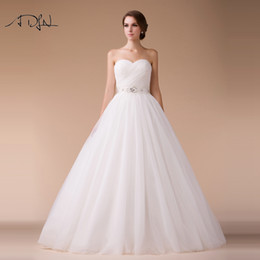 $enCountryForm.capitalKeyWord NZ - wholesale Elegant Sweetheart Sleeveless Ball Gown Wedding Dress Custom Made High Quality White ivory Plus Size Bridal Gown Customized