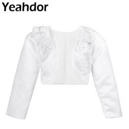 $enCountryForm.capitalKeyWord UK - Kids Girls 3D Flower Long Sleeves Bolero Jacket Shrug Short Cardigan White Sweater Dress Cover Up 12 Months-10 Years For