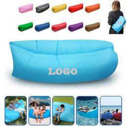 $enCountryForm.capitalKeyWord Australia - Beach Sleep Bag Lazy Inflatable Air Sofa Chair Living Room Bean Bag Cushion Outdoor Self Inflated Beanbag Outdoor Camp Sleeping Bed with Bag