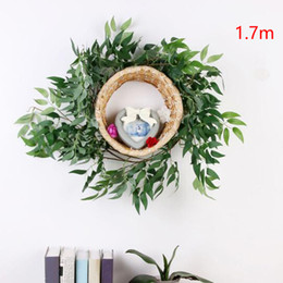 indoor green artificial plants Australia - Artificial Vine Supplies Hanging Home DIY Silk Decoration Wedding Fake Plant Party Willow Leaves Indoor Outdoor Garland