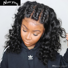 $enCountryForm.capitalKeyWord UK - French Curl Human Hair Wigs Baby Hair Bleached Knots Brazilian Remy 13*4 Lace Frontal Wigs Pre-plucked 180% Density Wigs MF28