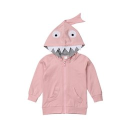 Toddler fashion ouTfiTs online shopping - Toddler Kids Baby Girls Boys D Cartoon Animal Hooded Zipper Cute Coat Long Sleeve Fashion Jacket Outfits With New Brand