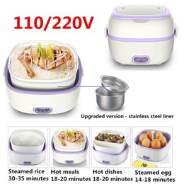$enCountryForm.capitalKeyWord Australia - Multifunctional Electric Lunch Box Mini Rice Cooker Portable Food Heating Steamer Heat Preservation Lunch Box Eu Plug us Plug T190619