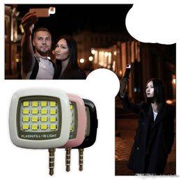 $enCountryForm.capitalKeyWord Australia - 16 Leds Lamp Portable Mini LED Flash IBlazr Dimmable Fill-IN Light Pocket Spotlight For iPhone IOS Android Smartphone Camera Universal