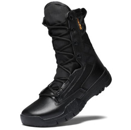 Special forceS deSert bootS online shopping - Top big Men s outdoor high Gang army wear resistant special forces tactical boots antiskid extra large desert combat shoes fitness training