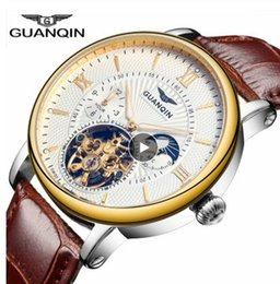 $enCountryForm.capitalKeyWord Australia - 2019 Fashion GUANQIN Mens Watches Top Skeleton Watch Men Sport Leather Tourbillon Automatic Mechanical Wristwatch Clock Men