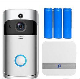 Опт Eken wifi дверной звонок v5 умный домашний дверной колокольчик cime 720p hd камера видео в реальном времени видео двусторонняя аудио ночное видение pir движение detectio