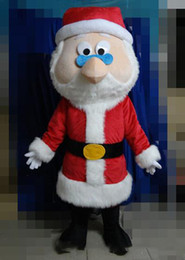$enCountryForm.capitalKeyWord Australia - With one mini fan inside the head red Father Christmas mascot suit for adult Santa Claus cartoon costume0
