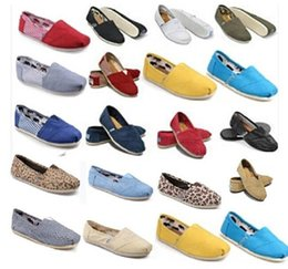 toms canvas shoes Australia - 2019 Brand New Women Men Canvas Shoes Flats Loafers Casual Single Shoe Solid Sneakers Driving Shoes Unisex Tom Espadrille Walking Shoe