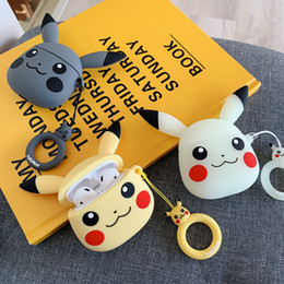 Cartoon earphone headphone online shopping - cartoon Wireless Bluetooth Earphone Case For Apple AirPods Silicone Charging Headphones Cases For Airpods Protective Cover