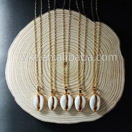 $enCountryForm.capitalKeyWord Australia - Wt-n493 Fashion Cowrie Shell Necklace Jewelry Natural Sea Shell Tiny Pendant In Gold,silver Trim Women Fashion Summer Jewelry J190616
