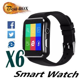 $enCountryForm.capitalKeyWord Australia - Curved Screen Bluetooth Smart Watch X6 Smartwatch Smart watchs bracelet Phone with SIM TF Card Slot with Camera for Samsung LG Sony Android