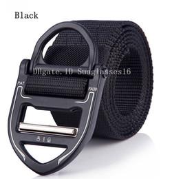 Active Alloys Australia - 49 In Heavy Duty Black Men Belt Mens Designer Belts Ceinture Five style Tactical Nylon Buckle Zinc Alloy Outdoor Sports Active Waist Strap