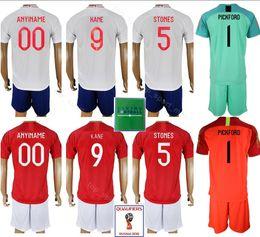 c76112164 2018 2019 Soccer 9 Harry Kane Jersey Men 5 John Stones 14 Danny Welbeck Football  Shirt Kits Uniform Custom Name Number Goalkeeper White