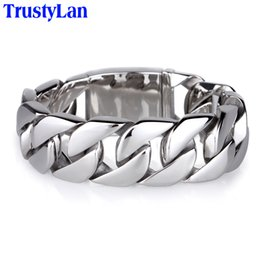 $enCountryForm.capitalKeyWord NZ - Trustylan Shiny Glossy 316l Stainless Steel Mens Bracelets 2018 20mm Wide Chain Bracelets Jewellery Accessory Man Bracelet J190702