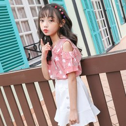 girls style summer shirt Australia - 2020 Summer Childrenswear New Style Girls Stripes Shirt Star Printed Versitile Fashion Vest Tops