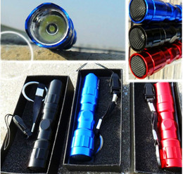 small flashlights wholesale NZ - 3W Mini Strong Light Flashlights Torches LED Outdoor Hiking Camping Waterproof Small Flashlight Aluminium Alloy XXD02