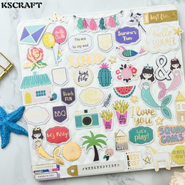 stickers for scrapbooking Australia - cardstock die cuts KSCRAFT 70pcs Hello Mermaid Cardstock Die Cut Stickers for Scrapbooking Happy Planner Card Making Journaling Project