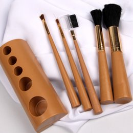 $enCountryForm.capitalKeyWord Australia - Foundation Makeup Brush Flat Top for Face - Perfect For Blending Liquid, Cream or Flawless Powder Cosmetics Wooden handle 5 brushes sets