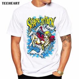 $enCountryForm.capitalKeyWord Australia - Scary Animal Huge Shark Summer Sea Teeth Girl Funny Joke Men T Shirt Tee