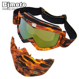 ski mouth mask 2019 - Bjmoto Motorcycle Mask Goggles Windproof Motocross Outdoor Riding Skiing Detachable Mouth Filter Goggle motorbike goggle