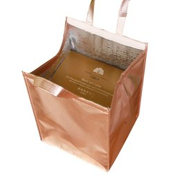 Picnic Ice Packs Australia - rose gold cooler bag cake wine fresh carrier cool bag thermal lunch picnic handbag thermos cans holder ice pack cool