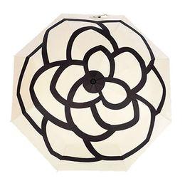 $enCountryForm.capitalKeyWord NZ - luxury Classic pattern Camellia Flower logo Umbrella For Women 3 Fold Luxury Umbrella with gift Box And Bag Rain Umbrella Free shipping